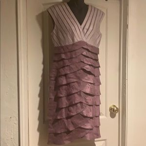 Adrianna Papell evening dress burnt pink size 10
